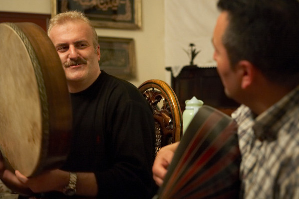 Faruk with the darbuka (hand drum) and Sinan with the oud (lute).