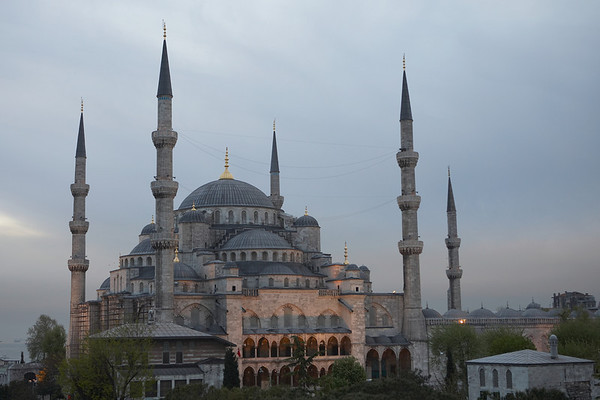 The Blue Mosque, also visible from the roof of Hotel Spina.
