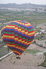Flying over Cappadocia.