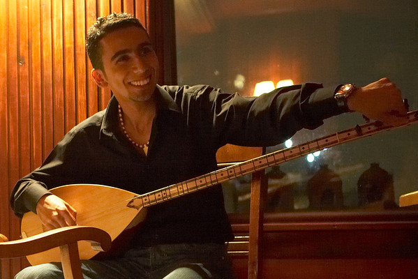 Murat Ozdemir, on a rainy evening at Hotel Spina.