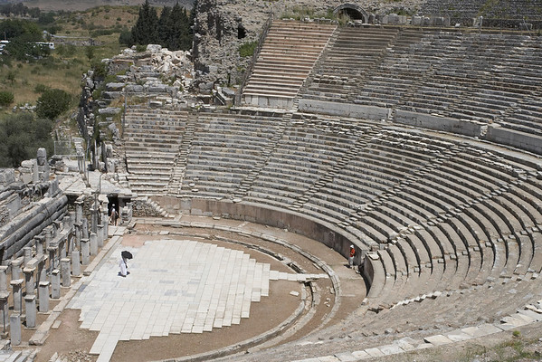 The Great Theatre, with a capacity of 25,000 spectators.