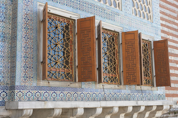 The artistry extended to the exterior of Topkapi Palace.