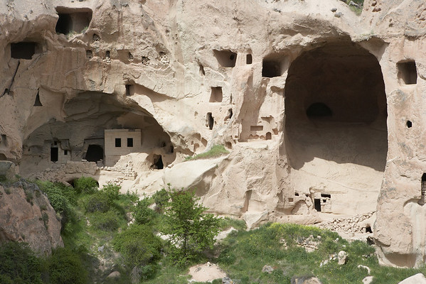 The Göreme open air museum featured dwellings built into the cliffs.