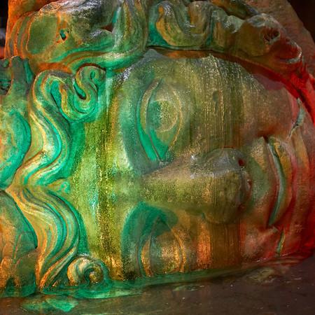 A second Medusa head, thought to mark a <em>nymphaeum</em>, a shrine to the water nymphs.