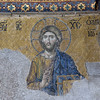 Mosaic of Christ.  Lower portions of the mosaic were removed<br /> by earlier visitors/pilgrims taking home souvenirs.