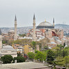 Hagia Sophia Mosque viewed from the rooftop restaurant of our hotel, the Arcadia Blue.