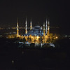 Our first night in Istanbul we enjoyed this view of Sultanahmet Camil, the Blue Mosque,<br />  while dining on the 9th floor of our hotel, Arcadia Blue.<br /> April 5, 2014