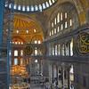 Interior of Hagia Sofia mosque.