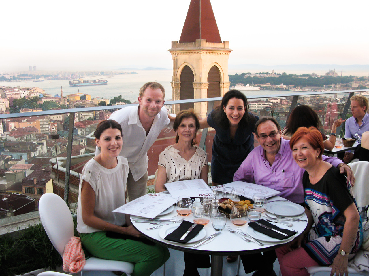 Dinner at 360 lounge with Selcen's father and extended family