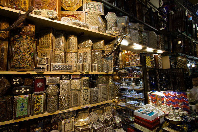 Boxes in the Grand Bazaar