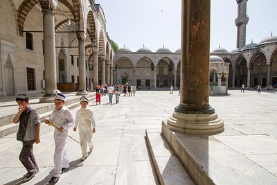 The Courtyard of the Blue Mosque
