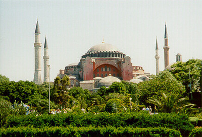 Aya Sophia -- Istanbul, Turkey May 1999.<br /> Photos from my backpacking trip around East Europe.