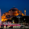 Hagia Sophia, sixth century, lit at night