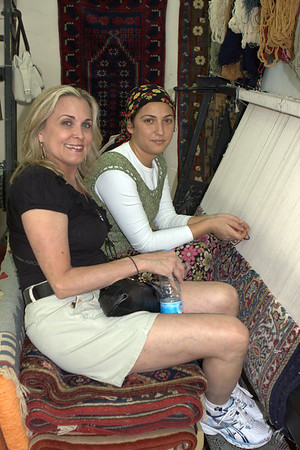 This woman was making a rug out of wool.  amazing detail and a tedious process.