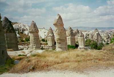 Natural Pillars -- Cappadocia, Turkey