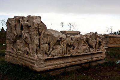 Ephesus Turkey - ornate sarcophagus