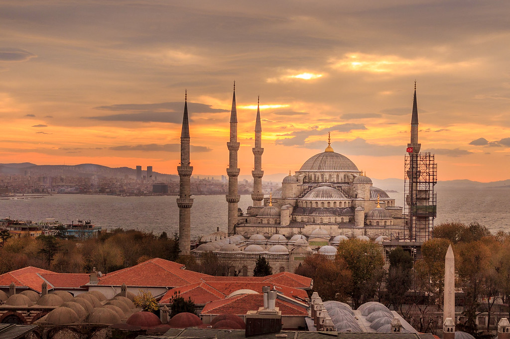 The Blue Mosque at Sunrise.