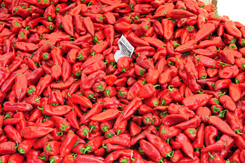 Peppers at market