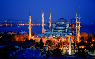 the Blue Mosque from our hotel