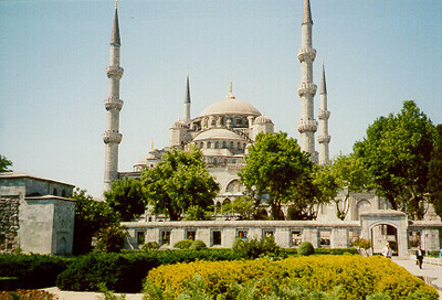 Blue Mosque -- Istanbul, Turkey May 1999.<br /> Photos from my backpacking trip around East Europe.