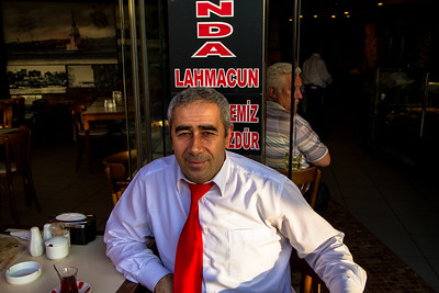 A Turkish Man Having Tea