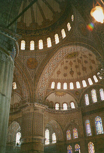 Blue Mosque Interior -- Istanbul, Turkey May 1999.  Photos from my backpacking trip around East Europe.