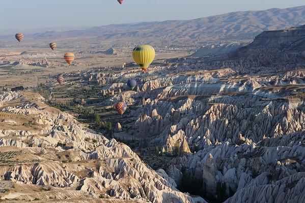 Ballooning over Cappadocia