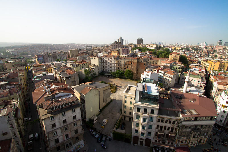 Views of European Istanbul from Galata Tower