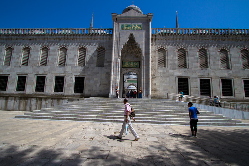 Steps of the Blue Mosque