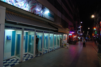 phone booths - Istanbul, Turkey