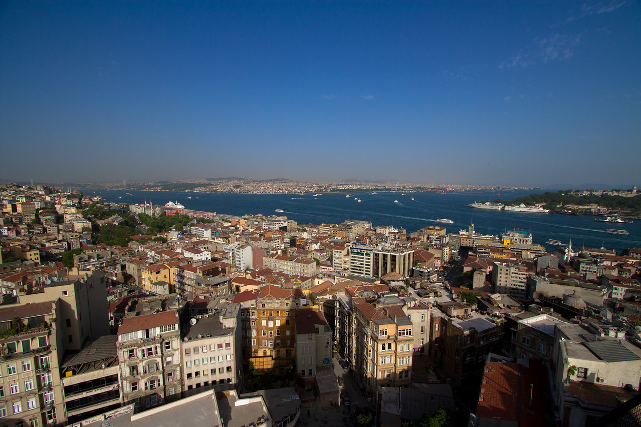 Views of the Asian side of Istanbul from Galata Tower