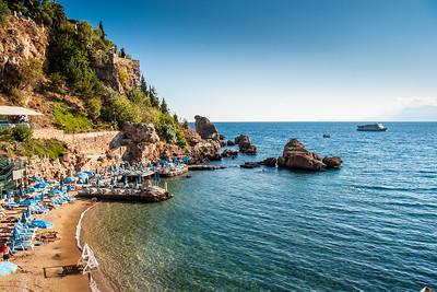 A beach in Antalya