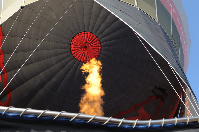 Looking up into the balloon on the accent