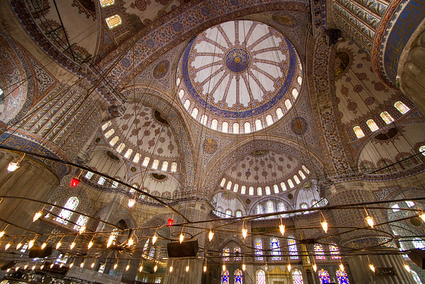 The Domes of the Blue Mosque