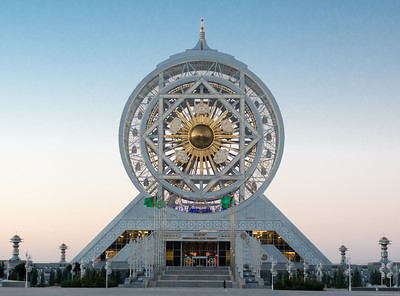 Ashgabat:  World's largest indoor Ferris wheel.