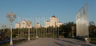 Ashgabat: Apartments clad in white marble from Italy - 8 million dollars each.
