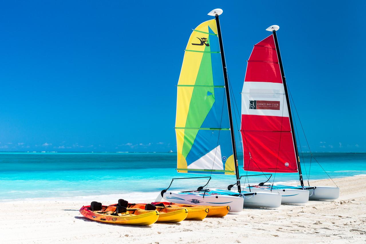 Sail Boats on Grace Bay Beach
