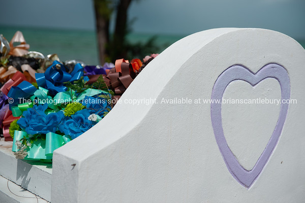 Grave on beach at providenciales, Turks & Caicos.<br /> Prints & downloads.