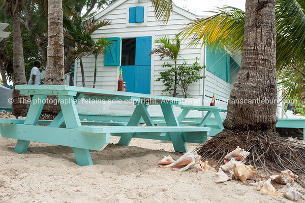 Conch Shack beach bar and restaurant , Providenciales, Turks & Caicos.<br /> Prints & downloads.