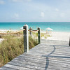 Walkway to beach, Providenciales, Turks & Caicos Islands.<br /> Prints & downloads.