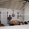 Pastor Dandy Owoh at the pulpit in his of Church, Blue Hills, Providenciales. <br /> email; rccgtci@yahoo.com