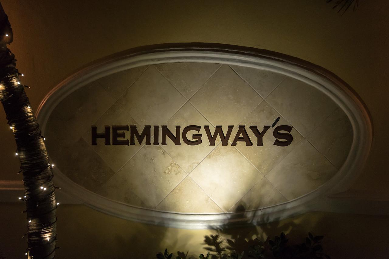 Night shot of Hemmingways - February 2014