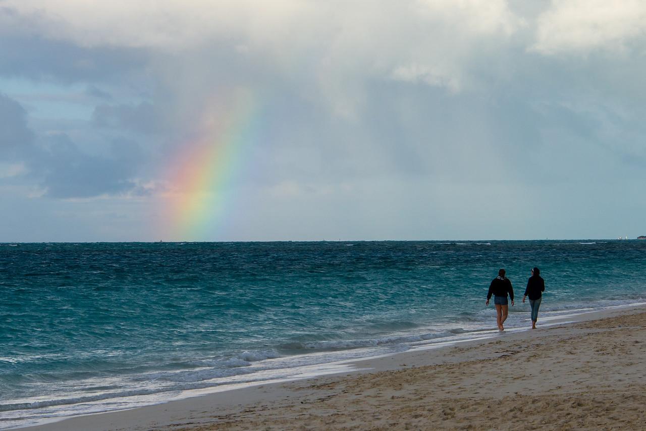 Partial Rainbow, Grace Bay - February 2014