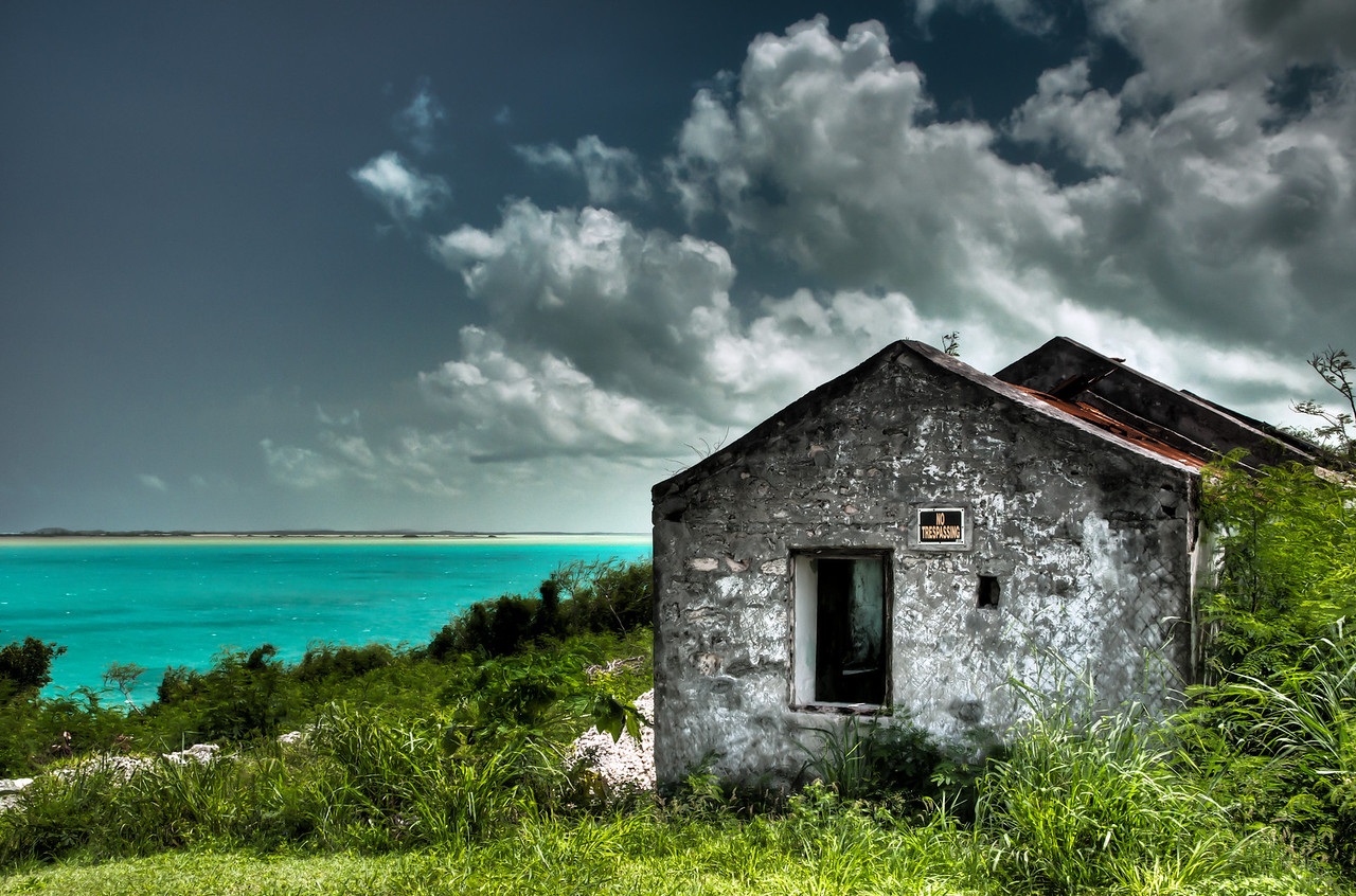 """""""Not trespassing"""" on Bottle Creek, North Caicos"""