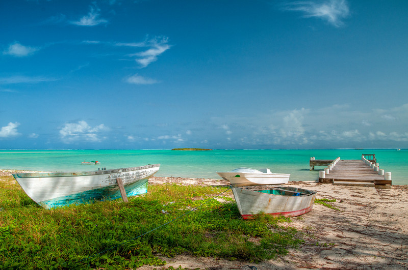 Boats at Bambarra Beach, Middle Caicos