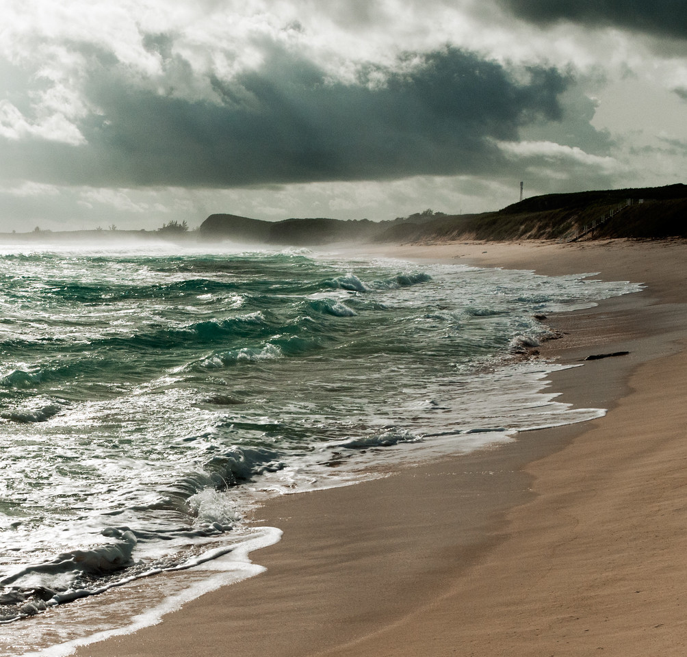 Stormy morning at Mudjin Harbor, Middle Caicos