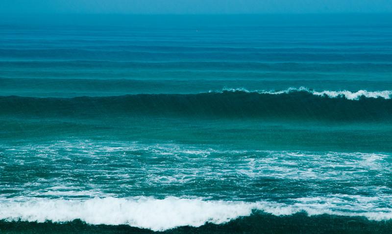 Waves and rain at Malcolm Beach