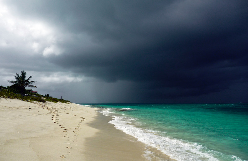 Storm Clouds at Bight Beach (Turtle Cove end of Grace Bay)