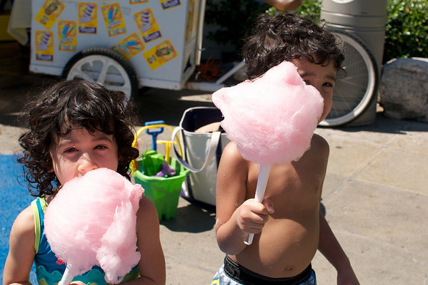 Cotton candy!!! Treasure island has it all - icecream, popcicles, cookies, lolly pops, fench fries and most importantly cotton candy!
