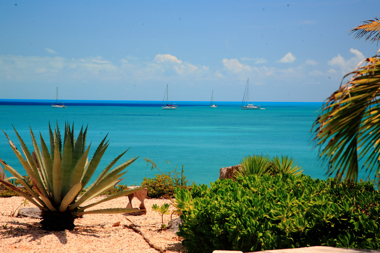 Sailboats anchored in OUR BAY without our permission.